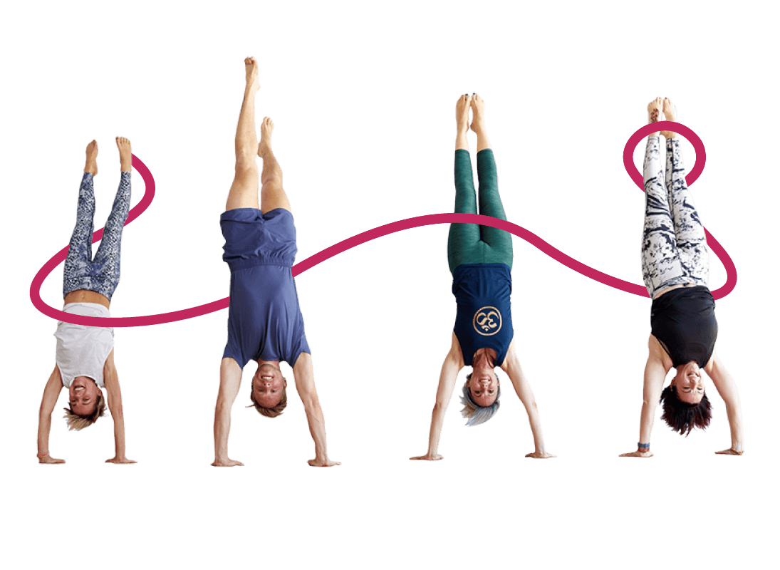 Handstand Yoga is part of a timetable that suits everyone